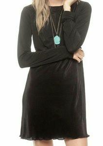 Vintage 90s black rayon dress
